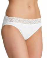 white Lace High Leg Briefs - Pack of 5