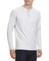 ecru Regular Fit Long-Sleeved Slub Henley