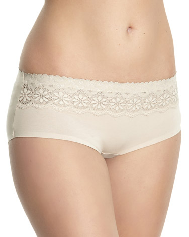 nudeMiracle Cotton Lace Top Shorts