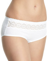white Miracle Cotton Lace Top Shorts