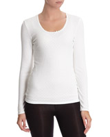ivory Thermal Long-Sleeved Top