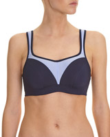 navy Underwired Extra High Impact Sports Bra