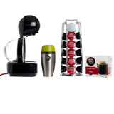 black Dolce Gusto Lumio Coffee Machine With Free Accessories
