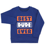blue Toddler Best Dude Crew-Neck