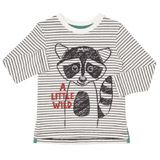 charcoal Toddler Raccoon Long Sleeve Top