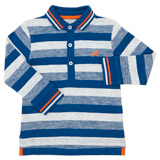 blue Toddler Stripe Polo
