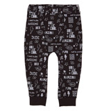 black Toddler Scribble Jogpants