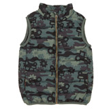 green Toddler Camo Print Gilet