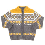 ochre Toddler Fairisle Zip-Through