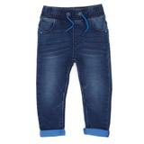 blue Toddler Coloured Turn-Up Jeans