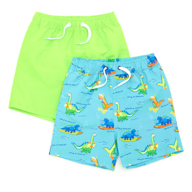 a72ff42897 Kids Holiday Shop | GREEN Swim Shorts - Pack Of 2 (9 months-4 years ...