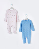 print Leigh Tucker Willow Flo Sleepsuit - Pack Of 2