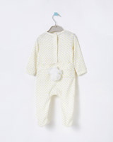 white Leigh Tucker Willow Faye Pom Pom Sleepsuit