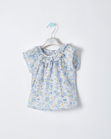 blue Leigh Tucker Willow Fern Woven Top