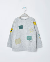 grey-marl Leigh Tucker Willow Sammy Sweater