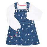 denimToddler Pinny And Top