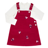 raspberry Toddler Cord Pinny Set