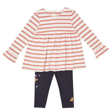 26b4913988bb7 multi Toddler Stripe Dress And Leggings Set