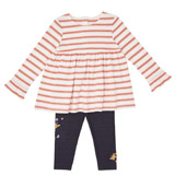 multi Toddler Stripe Dress And Leggings Set