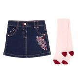 denimToddler Denim Skirt And Tights