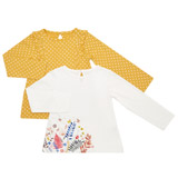 cream Toddler Tops - Pack Of 2