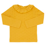 gold Toddler Pointelle Top