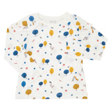 cream Toddler Print Top