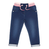 denim Toddler Rib Waist Jeans