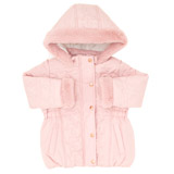 pink Toddler Star Quilted Jacket