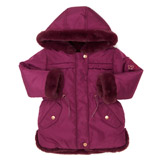 purple Toddler Faux-Fur Lined Coat