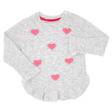 grey Toddler Heart Applique Jumper