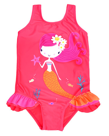 79f6e4e54afca Baby Girls 6 mths - 4 yrs | PINK Mermaid Swimsuit (6 months-4 years ...