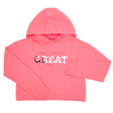 pink Girls Cross Back Sweater (4-14 years)