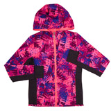 berry Girls Printed Zip-Front Jacket (4-14 years)