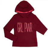 berry Girls GRL PWR Hoodie (4-14 years)