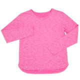 pink Girls Long-Sleeved Sporty Top (5-14 years)