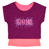 berry Girls Glitter Twofer Top (4-14 years)
