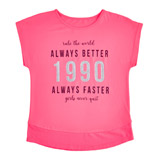pink Girls Glitter T-Shirt (4-14 years)