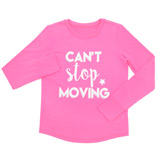 pink Girls Long Sleeve Glitter Top (4-14 years)