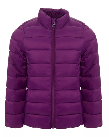 purple Girls Superlight Funnel Neck Jacket (3-14 years)
