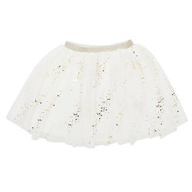 109bec1b34 cream Girls Foil Print Tutu Skirt (3-9 years)