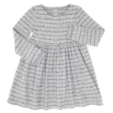 bb2bce5e75 grey Girls Snit Check Dress (3-10 years)