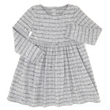 grey Girls Snit Check Dress (3-10 years)