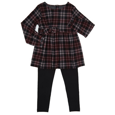 c21fb52579d black Girls Two-Piece Check Set (3-10 years)