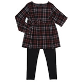 black Girls Two-Piece Check Set (3-10 years)