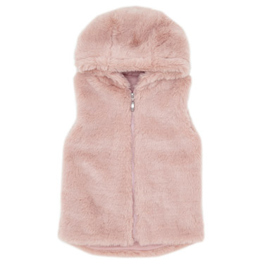 a1a7856962b59 pink Girls Faux Fur Gilet (3-10 years)