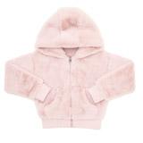baby-pinkGirls Faux Fur Zip Hoodie (3-14 years)