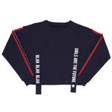 navyGirls Ribbon Tape Sweater (8-14 years)