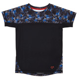 blue Boys Camo Raglan T-Shirt (4-14 years)