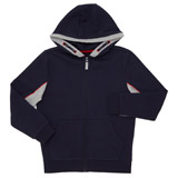 navy Boys Contrast Zip Through Hoodie (8-14 years)